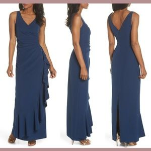 NEW $188 Vince Camuto Laguna Faux Wrap Gown in 18